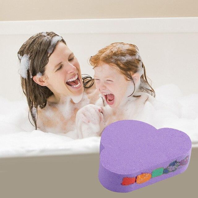 110g Rainbow Cloud Natural SPA Bath Salt Essential Oil Bomb for Moisturizes Dry Skin Bubble Massage SPA Handmade Bath Salt Bomb 2