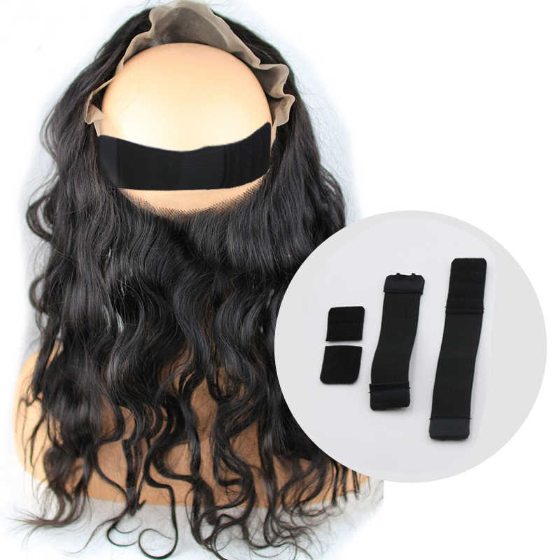 Adjustable Wig Straps Wig Accessories Adjustable Elastic Band Thicked Wig Making Tools Black 25Mm 35Mm Width Wig Elastic Band