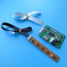 """Для LTN156AT40-D01 diy kit плата контроллера экрана 1366X768 EDP Мини светодиодный монитор аудио ЖК ноутбук ПК 15,"""" HDMI кабель драйвер"""