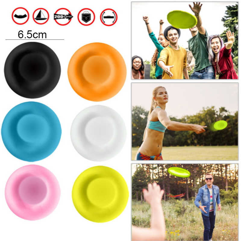 Mini Creative Frisbeed Parent-child Interactive Sports Circular Silicone Disc Game Outdoor Sports Flying Saucer Toys