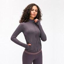 Женские облегающие куртки для тренировок, куртка на молнии для занятий спортом, фитнесом, бегом и тренировками