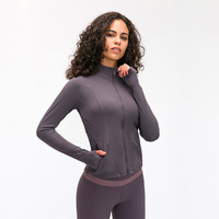 Women Slim Fit Workout Jackets Outdoor Jacket Full Zipper Sport Gym Fitness Athletic Running Trainning Coat Sports & Outdoors