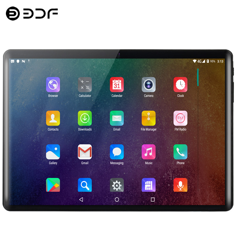 New 10.1 Inch Tablet PC 2.5D Hard Screen TEN Core 3G/4G Call 8GB RAM 128GB ROM Dual Camera Android 9.0 Tablet 10.1 BO-X Horn