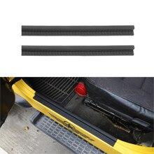 Tür Sill Platte Entry Guard Willkommen Pedal Abdeckung Trim Protector für Jeep Wrangler TJ 1997 2006 Gummi Schwarz Auto zubehör