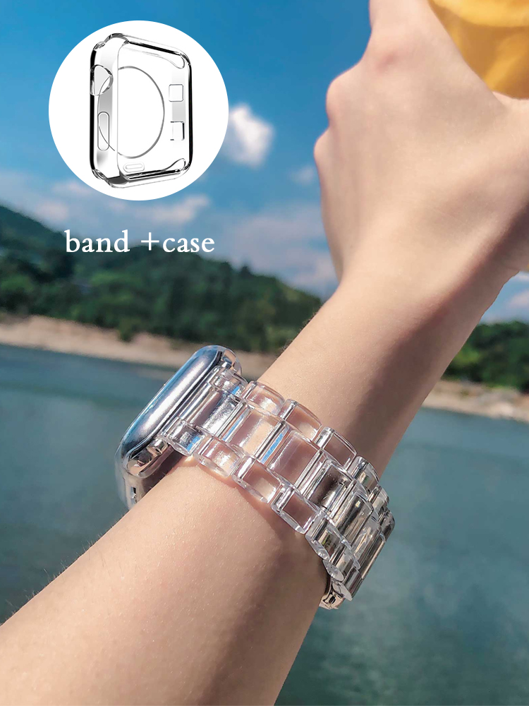 Newest Strap for Apple Watch Band Series 6 SE 5 4 321 Transparent for Iwatch bracelet