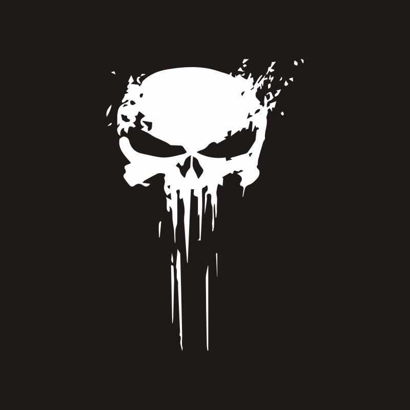 22*15Cm 3D Punisher Tengkorak Darah Stiker Mobil Stiker dan Decal Mobil Vinyl Reflektif Stiker Mobil Styling Aksesoris stiker