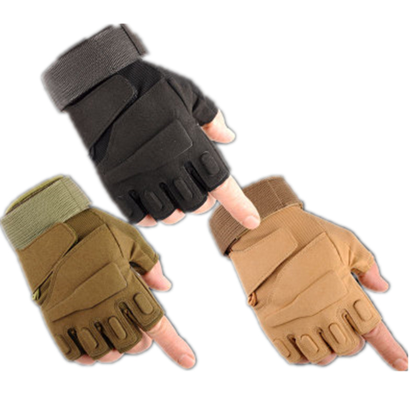 Fingerless Tactical Gloves Military Army Guantes Bicycle Mittens Luvas Fitness Weights Motorcycle Driving Women Men's Gym Gloves