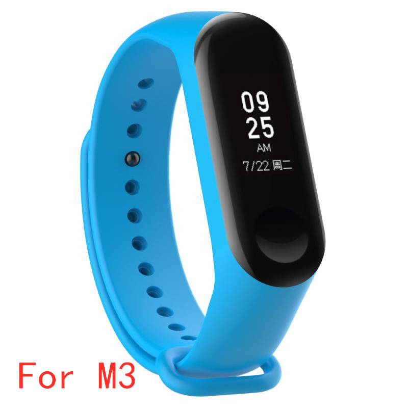 Smart Strap Replacement Silicone Watch Strap For MI Band 3 Xiaomi Wristband Strap For Miband 3 Smart Bracelet