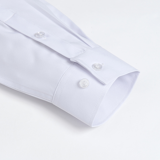 Men's Casual Stretch Short Sleeve Dress Shirts Single Patch Pocket Standard-fit Formal Business Work Office Solid Basic Shirt