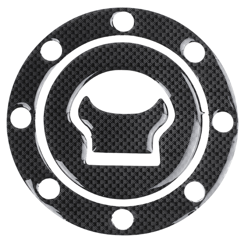 New Cover Sticker Carbon Fuel / Gas Cap Cover Pad Sticker For SUZUKI GSXR 600 750 1300 SV 1000 GSFT 1200 Bandit Black