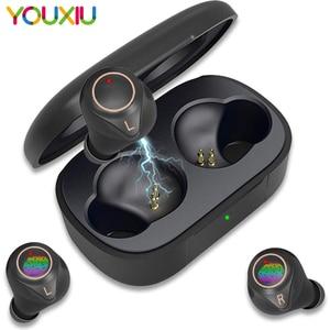 Image 1 - X2 אלחוטי Bluetooth אוזניות 5.0 Eabuds IPX7 עמיד למים בס AAC & SBC אוזניות QCC3020 Apt x 5.0 TWS אוזניות