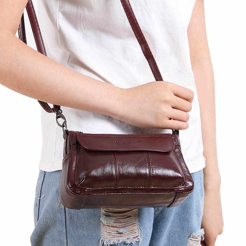 Xiaoduoli marca de couro genuíno mini handhold embraiagens totes bolsa feminina ombro mensageiro bolsa feminina alça superior