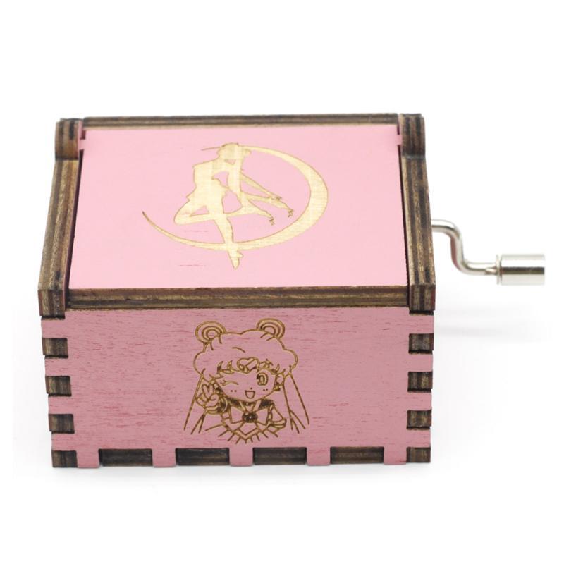 Новый розовый Сейлор Мун музыкальная шкатулка Игра престолов музыкальная шкатулка музыкальная тема Caixa De Musica подарок на день рождения
