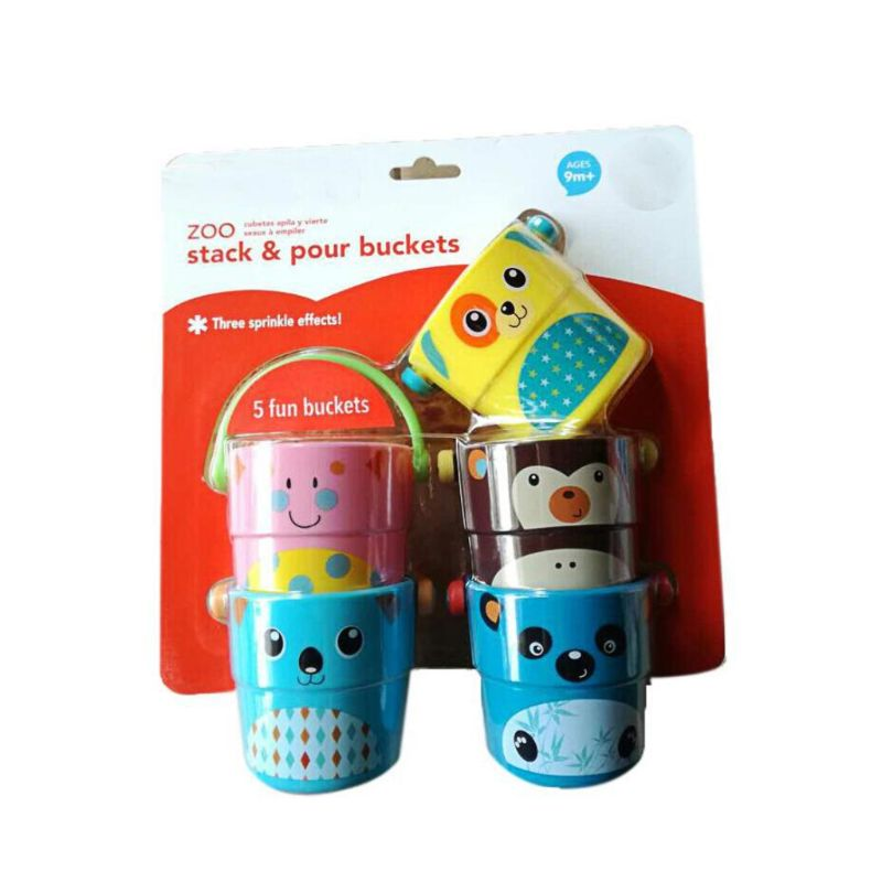Children Baby Shower Toys Pouring Cup Flow Style Bucket Water Spray Tool Cute Cartoon Animal Children's Toy Gift