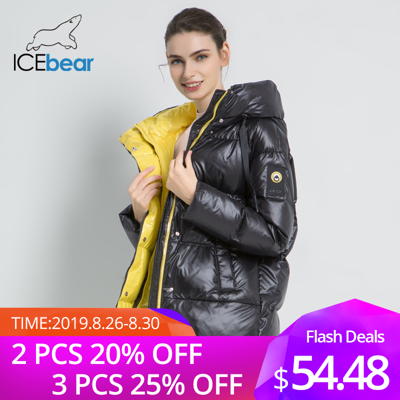 2019 New Winter Female Jacket High Quality Hooded Coat Women Fashion Jackets Winter Warm Woman Clothing Casual Parkas GWD19502I