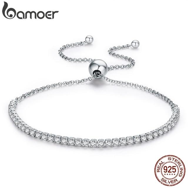 BAMOER  925 Sterling Silver Sparkling Strand Bracelet