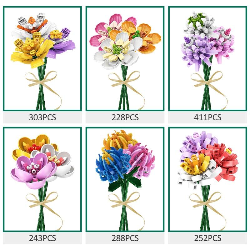 SEMBO Colorful Flowers Building Blocks