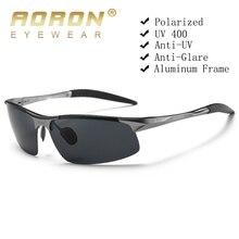 AORONแว่นตากันแดดPolarizedกรอบอลูมิเนียมกีฬาSunแว่นตาผู้ชายไดร์เวอร์แว่นตาRetroแว่นตาUV400 Anti Glare