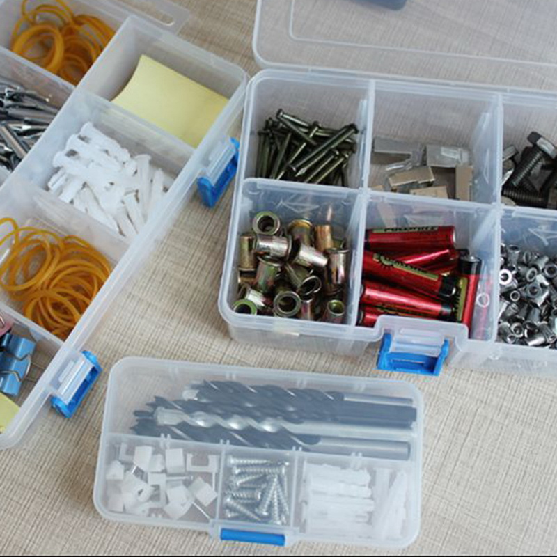 1PC Electronic Components Storage Tool Combination Screw Finishing Container Ring Box Portable Jewelry Plastic Tool Bag