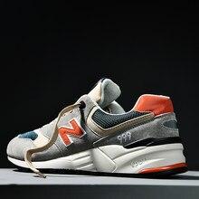 Novo equilíbrio flagship store genuíno 999 casal nΒ net macarronetes tênis casuais dos homens nova cor correspondência caminhadas sapatos