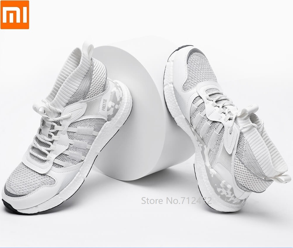 Xiaomi FREETIE men Cloud Elite Popcorn Trend sneakers Fish bone support Leather stitching upper breathable Outdoor sports shoes