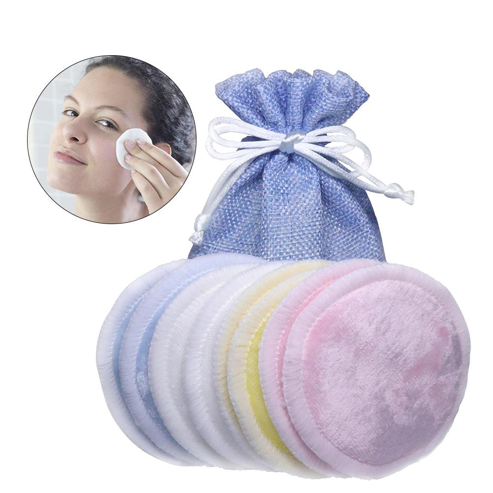 Natural Deep Cleansing Make-Up Pads Reusable Eyes Make Up Removal High-Quality Washable Wipes Set