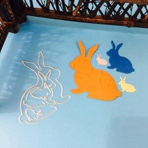 Пасхальный кролик вырезание нового прибытия карты Бумага рельефное тиснение для скрапбукинга ремесло Diy Фотоальбом кролик вырезание штампы