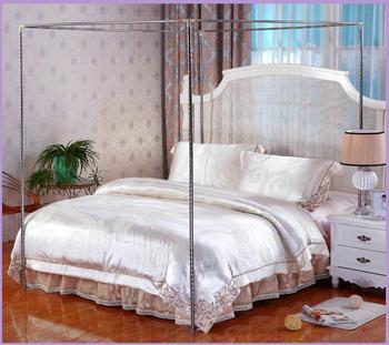 4 narożna słupkowa moskitiery z baldachimem 22mm-bez moskitiery tanie i dobre opinie CN (pochodzenie) Trzy-drzwi Uniwersalny Akcesoria Czworoboczny Domu Pałac moskitiera Składane