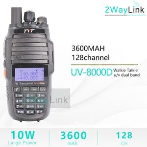 Image 2 - TYT TH UV8000D ווקי טוקי 10 KM Dual Band VHF & UHF 10W 10 km חובב רדיו 3600mAh צלב פונקצית צלב band משחזר tyt רדיו