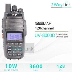 Image 2 - TYT TH UV8000D Walkie Talkie 10 KM Dual Band VHF e UHF 10W 10 km Amateur radio 3600mAh Croce band Ripetitore Funzione tyt radio