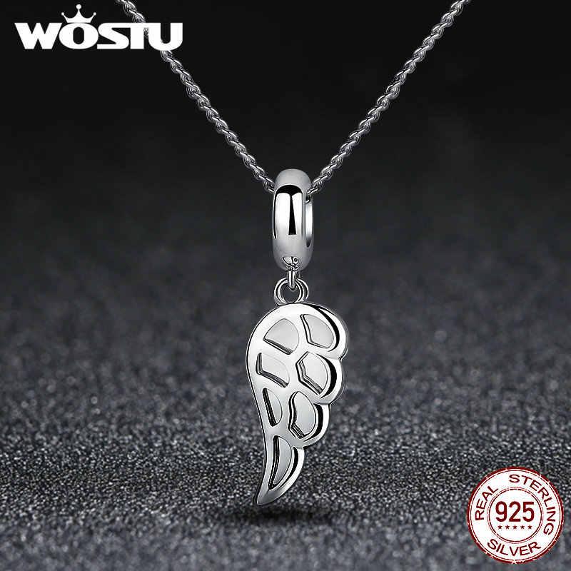 925 argent Sterling ange aile & coeur argent perles breloque Fit Original WST Bracelet Bracelet pour femmes bijoux à bricoler soi-même SDP5296