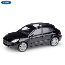 WELLY 1:36 Porsche Macan simulation alloy car model machine Simulation Collection toy pull-back vehicle недорого