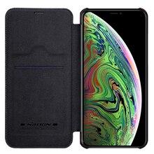 Para o iphone 11 pro caso de couro nillkin qin série flip capa para iphone 11 pro max luxo capa carteira com cartão de bolso