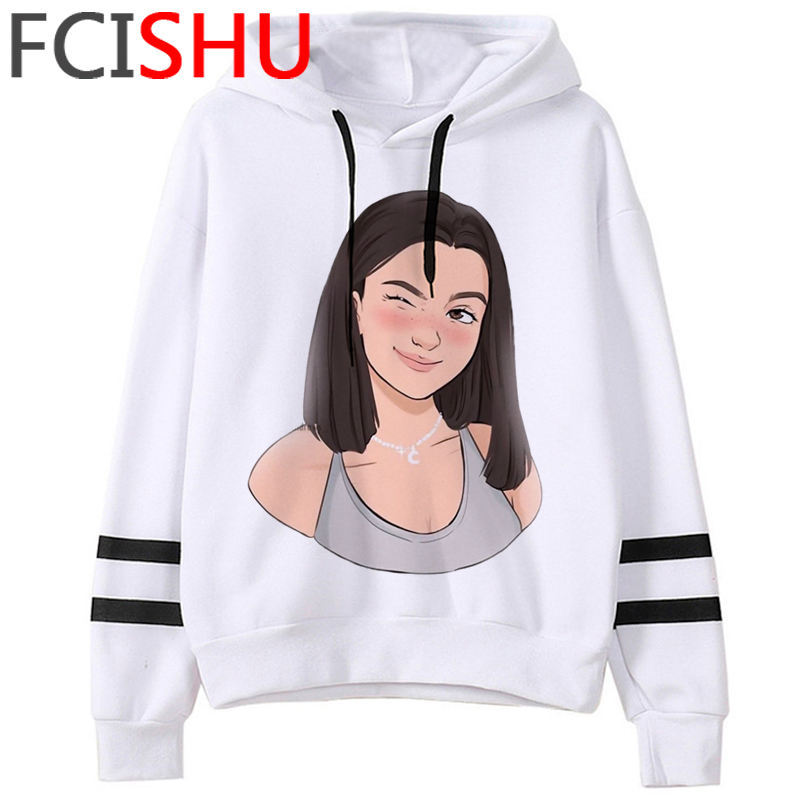 Fashion Charli Damelio Merch Ice Coffee Graphic Hoodies Women Harajuku Ullzang Funny Cartoon Sweatshirt Wimter Warm Hoody Female 19