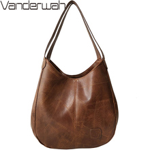 2019 New Vintage Hobos PU Leather Shoulder Bags For Women Handbags Ladies Hand Bag Tote Casual Bolsos Mujer Bolsas Feminina Sac