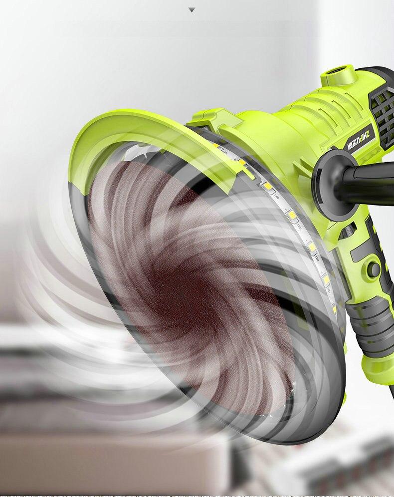 AC220V 810W 180mm tragbare wand polieren maschine, hand-gehalten schleif maschine, staub-freies selbstansaugende, einstellbare geschwindigkeit