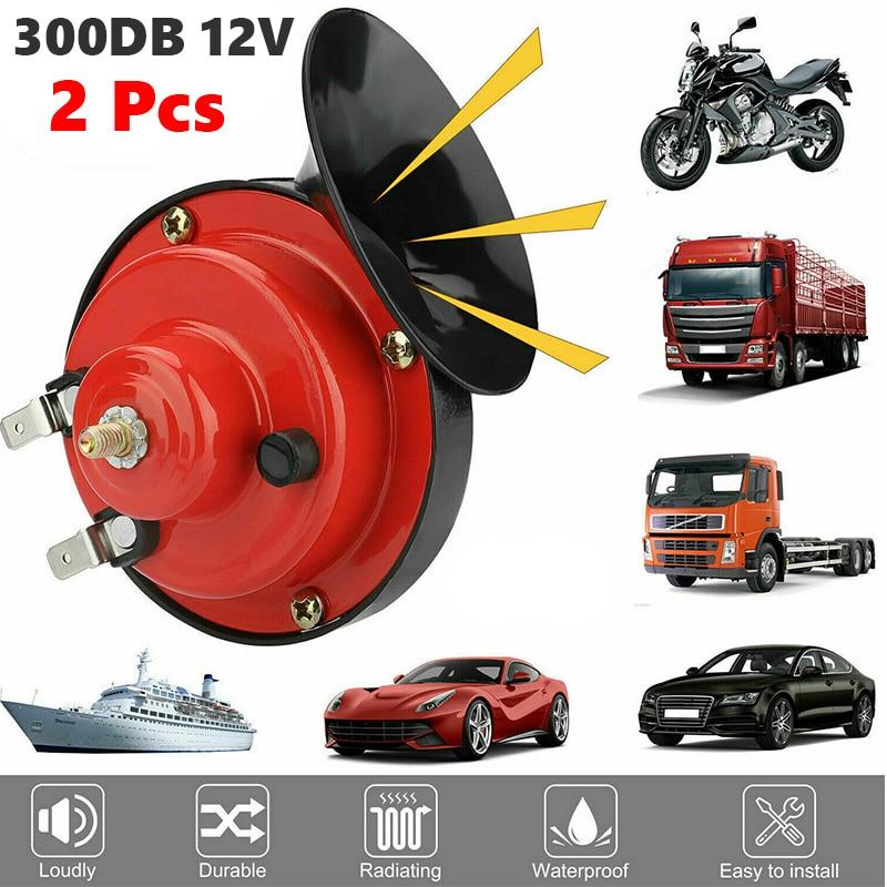 2 шт. 300DB супер поезд звуковой сигнал для грузовиков внедорожник автомобиль Лодка Электрический Horn-12V автомобильный гудок громкий Давление к...