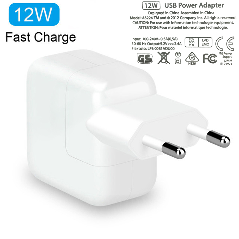 Lot Of 20 12W Apple USB Power Adapter Genuine OEM Wall Plug for iPad//iPhone
