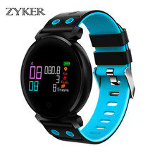 ZYKER New Smart Watch Men Women Bluetooth Waterproof Colorful  Touch Screen Blood Pressure Heart Rate Monitor Sport Smartwatch все цены