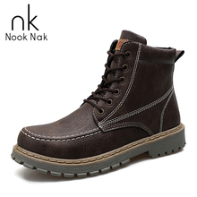 цены Boots Men Winter Genuine Leather Keep Warm Boots Men Vintage Casual Shoes Snow Boots Footwear Lace Up Warm Inside Botas Homber