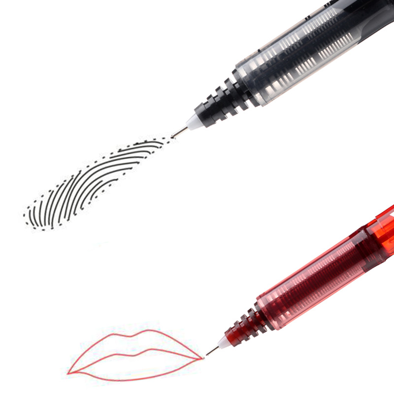 1Pc 2020 New 0.5mm Black Red Marker Pen Microblading Permanent Makeup Tattoo Eyebrow Lip Waterproof Skin Scribe Tool
