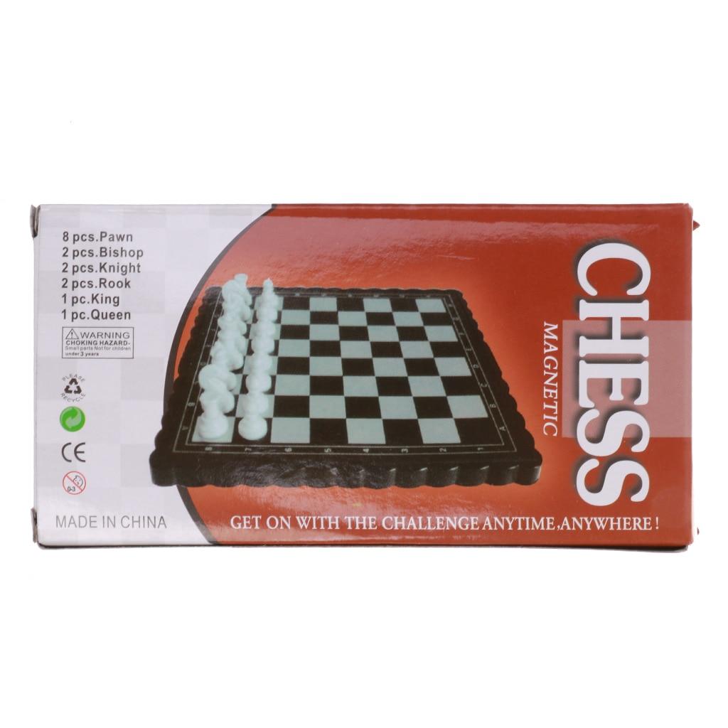 Pocket  Plastic Mini Folding Chessboard Chess Set Pcs Toy Kids Gifts
