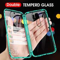 Capa traseira de vidro temperado para xiaomi nota 8 redmi nota 8 redmi 7 caso magnético de dupla face 360 completa proteger caso para redmi note 8 pro