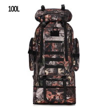 цены 100L Large capacity outdoor tactical camouflage backpack 3D expansion hiking adventure mountaineering bag carrying tent sleeping