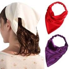 Haimeikang Winter Velvet Turban Bandage Bandanas Solid Color New Headband For Women Elastic Fashion Hair Accessories Headwear