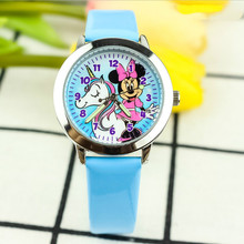 New fashion children's cartoon blue face watch Primary school students cute lumi