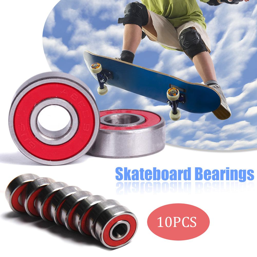 10pcs/Set 608zz Rolling Skateboard Longboard Wheel Durable For Skate Bearings Roller ABEC-7 Set Red Titanium Skateboard Wheel