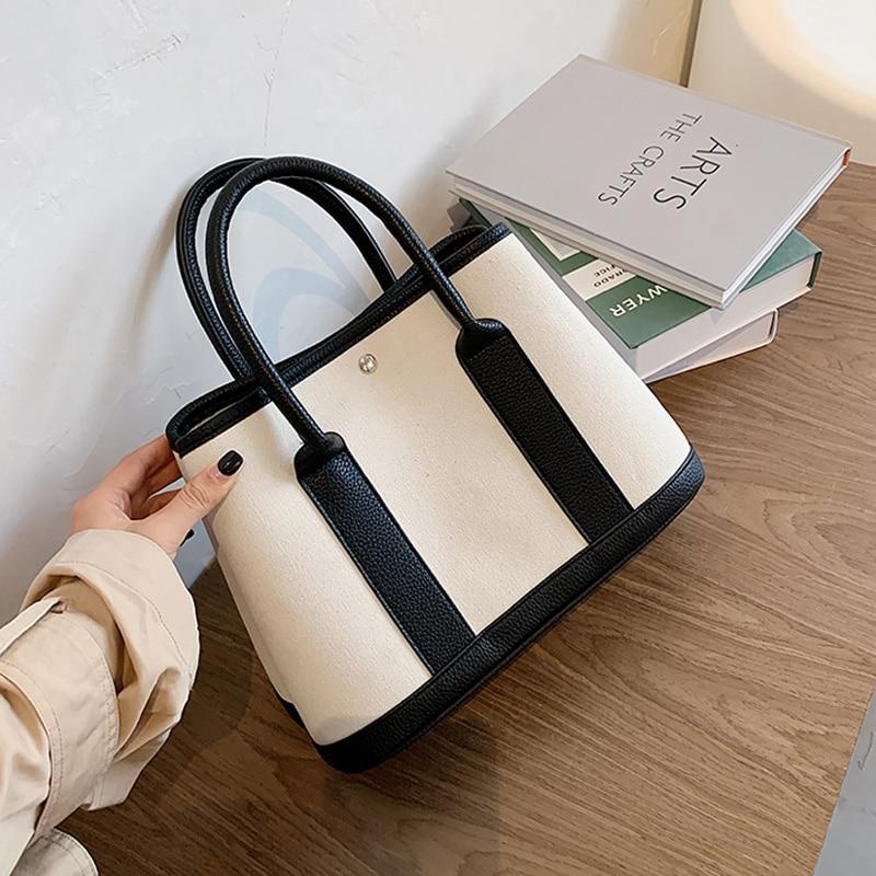 Mode Leinwand frauen Tasche 2020 Sommer Neue Damen Schulter Taschen Sac EIN Haupt Femme Marke Designer Tote Taschen Trendy mädchen Handtaschen