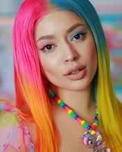 ALIFITOV Ombre Pink Blue Yellow Color 13x4 Lace Front Wigs Brazilian Body Wave Human Hair Wig Remy hd Lace Wig for Women