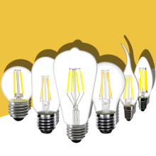 E12 E14 E26 E27 B22 LED Filament Bulb 2W 4W 6W 8W Frosted glass Candle Flame Light Bulb 110V 220V Warm white A60 G45 ST64 C35